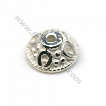 925 sterling silver smooth small dish 6mm x 10 pcs