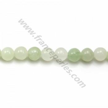 Jadeite vert ronde 6mm x 40cm