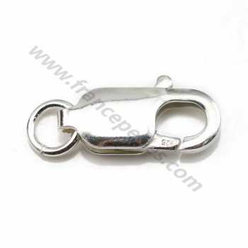 925 silver oval lobster claw clasp 20x9mm x 1pc