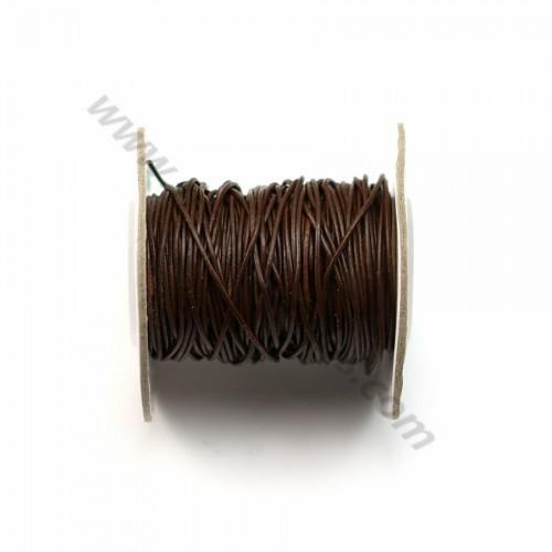 Fil en cuir brun 1.0mm  x 1m