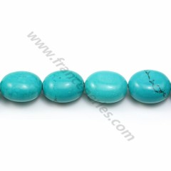 Turquoise reconstitutes oval 11*13mm x 40cm