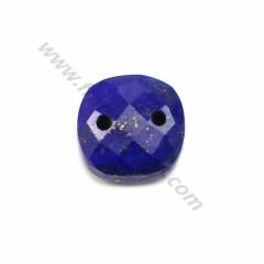 Intercalary lapis lazuli with 2 holes 10mm x 1pc