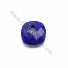 Pendant lapis lazuli faceted 10mm x 1pc