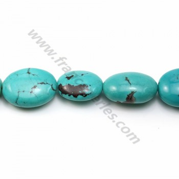 Turquoise ovale 14-19*18-24mm X 40cm