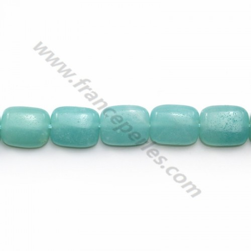 Jade colored light Blue Flat drop 13.5*18.5mm X 1pc