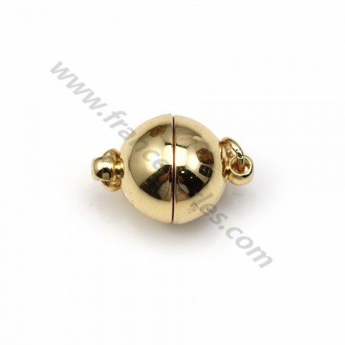 Magnetic clasp, in the round shape, and golden color, x1pc