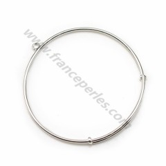 Adjustable bracelet in silver 925, measuring 58mm x 1pc
