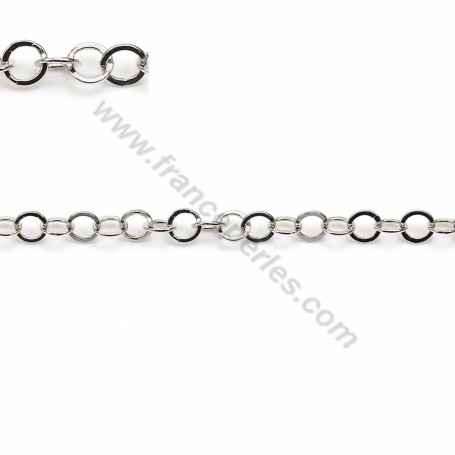 Sterling Silver 925 Chaine round flat 3.5mm X 50cm