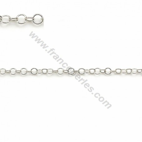 Round 925 sterling silver chain 2.5mm x 50cm