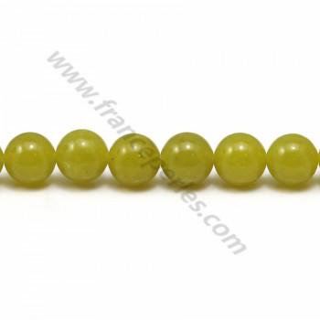 Jade lemon rond 8mm x 40cm