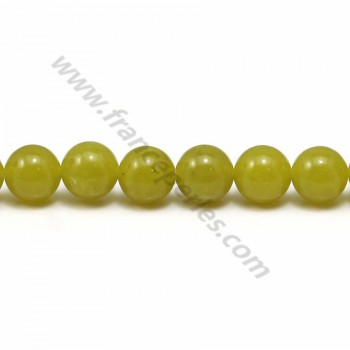 Jade lemon round 8mm x 40cm