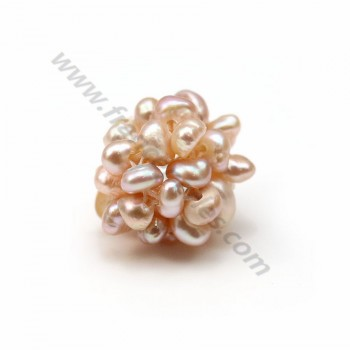 Pearl of purple color in freshwater pearls, in size of 13-14mm x 1pc