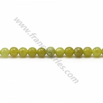 Jade lemon round 4mm x 40cm