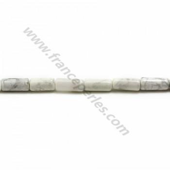 Howlite blanche tube 3.5*8mm x 40cm