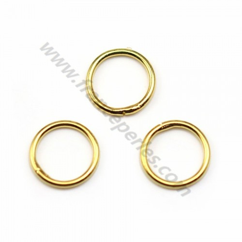 Open golden round rings in metal 0.8*6mm x 100pcs