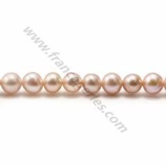 Purplish pink round freshwater pearls 8mm x 2pcs
