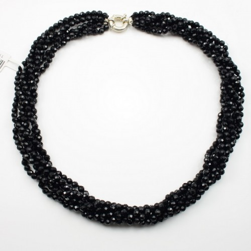 Torsade Necklace Black Agate Barnard