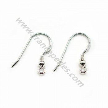 Earhook with a ball silver 925 X 30 pcs