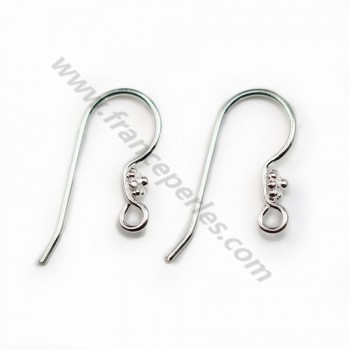 Sterling Silver 925 Ear wires 11*20mm X 2pcs
