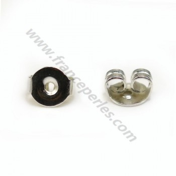 Ear clutches, 925 Sterling Silver 5.5mm X 4 pcs