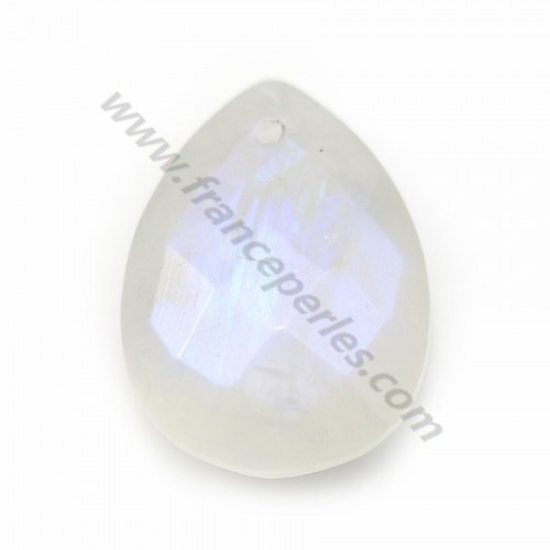 Moonstone, in faceted drop shaped, 13 * 18mm x 1pc