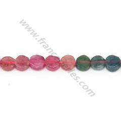 Multicolored tourmaline, in round and flat shape, 5mm x 40cm
