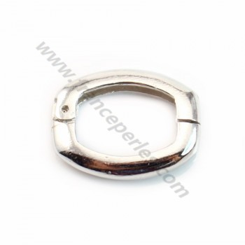 Oval Clasp, 925 Silver rhodium, 14*18mm X 1 pc