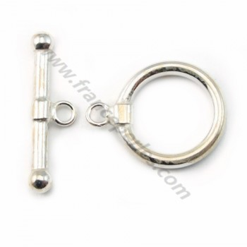 925 sterling silver OT clasp 18mm X 1 pc