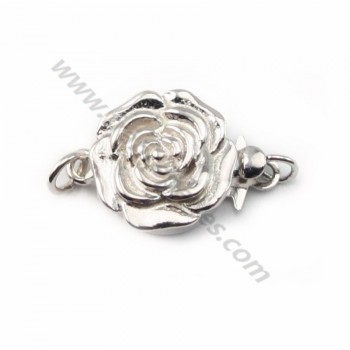 Silver 925 Round Flower Clasp 11mm X 1 pc