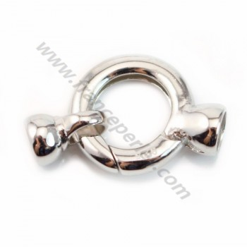 Spring ring clasp, 925 sterling silver  16*24mm with terminator 6.5mmX 1pc