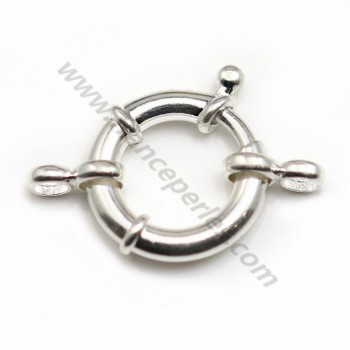 Silver 925 Spring Clasp 18mm X 1 pc