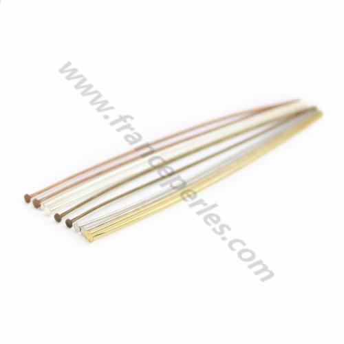 Head pin bronze tone x 38mm x 20pcs
