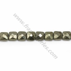 Pyrite, in the shape of a faceted washer, 1.5 * 2mm x 39cm