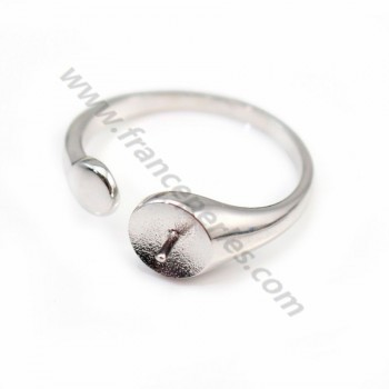 Sterling Silver 925  Simple Ring Adjustable X 1 pc
