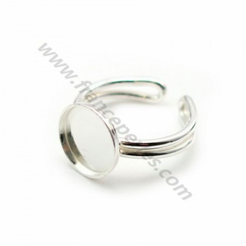 925 silver adjustable ring 10mm round base x 1pc