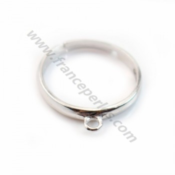 Sterling Silver 925 Ring Adjustable Round X 1 pc