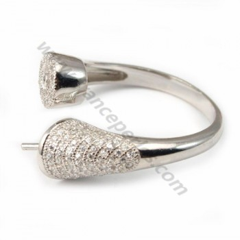 Silver 925 bague with ZC X 1pc