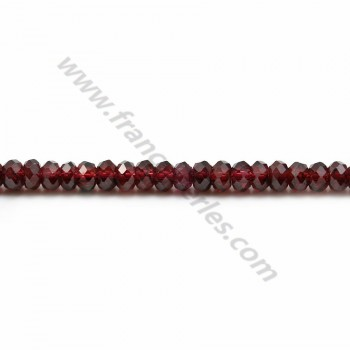 Garnet rondelle faceted 2x3mm x 40cm