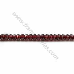 Garnet burgundy, in the shape of a faceted washer, 2.5*4mm x 10pcs