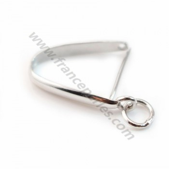 Arch Bail,  Silver 925 rhodium 19*18mm X 1 pcs