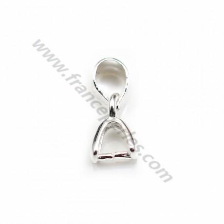 Smooth bail+pendant holder, Silver 925 5x11mm X 1 pcs