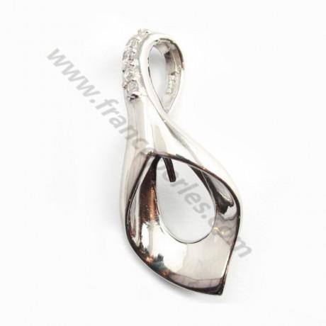 Silver 925 Rhodium bélière 13*29mm X 1pc