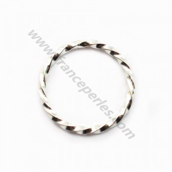 Silver 925 Oval Rings 7*13mm x 2pcs