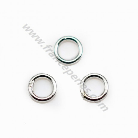 925 Silver, Welded Round Closed Rings, 6x0.8mm, X10pcs