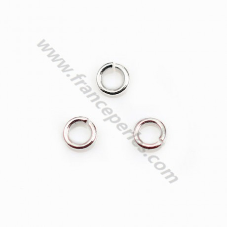 925 Silver Rings, Open Round,  4x0.8mm, X 20 pcs