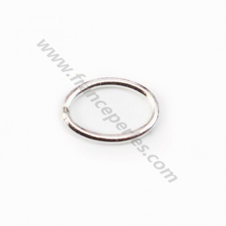 925 Sterling Silver, Oval-shape Rings, 6*8mm x 4pcs