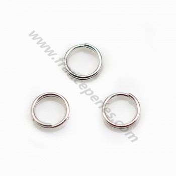 925 Silver, Double jump rings, 7x0.7mm X 10 pcs