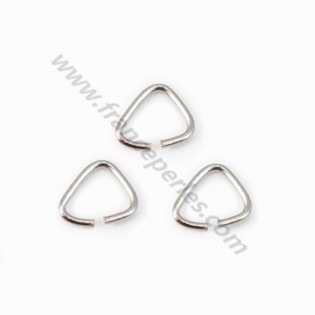 925 Silver rhodium, Open Triangle-shape, 4*4x0.6mm, x 20pcs