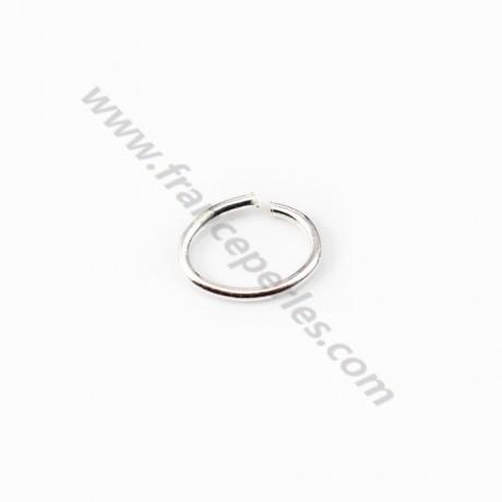 925 Sterling Silver, Oval-shape Rings, 6*8mm x 4pcs
