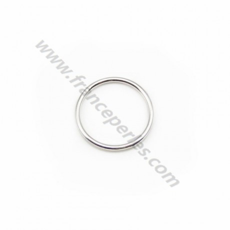 Silver 925 Welded Round Rings 10mm in bag